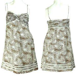 LOFT Lace Trim 100% Cotton Empire Waist Sundress